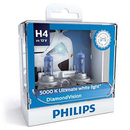 DiamondVision 藍鉆之光5,000k極致白光 白光時尚型升級車燈 H4