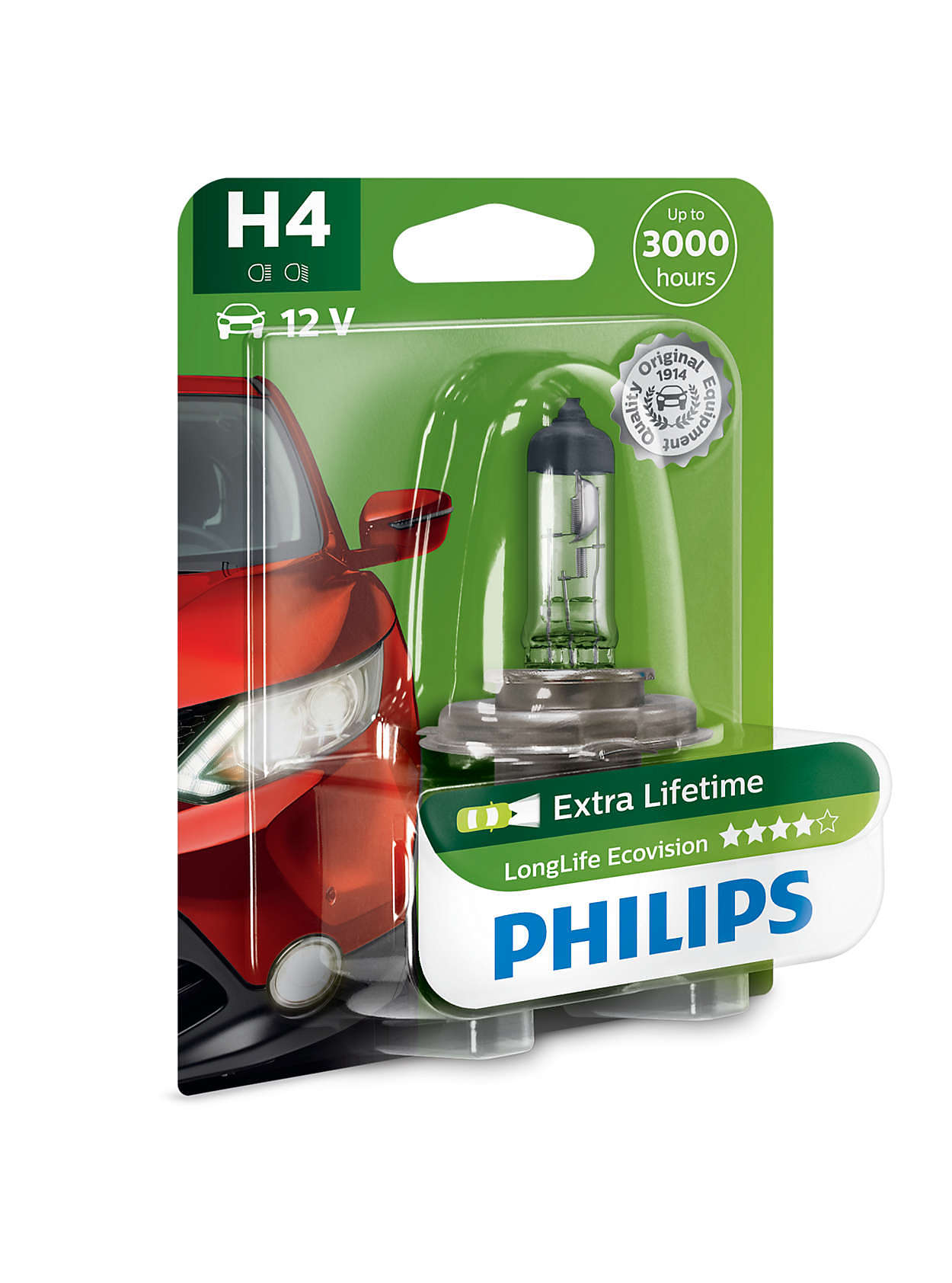 Longlife ecovision car headlight bulb 12342llecob1 philips - Ecovision homes ...