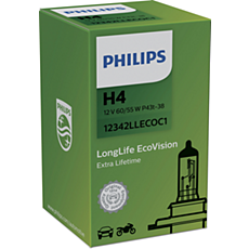 12342LLECOC1 LongLife EcoVision car headlight bulb