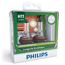 LongLife EcoVision ヘッドランプ用 LED バルブ