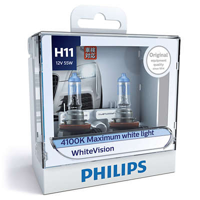 WhiteVision Headlights 12362WHVS2 | Philips