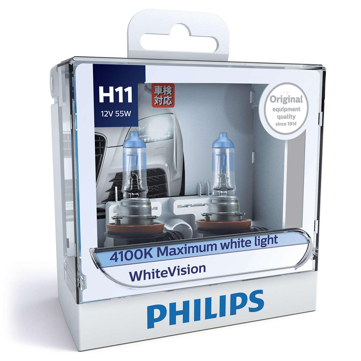Whitevision Headlight Bulb 12362whvs2 Philips