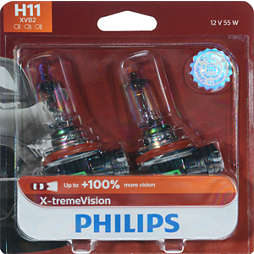 X-tremeVision upgrade headlight bulb