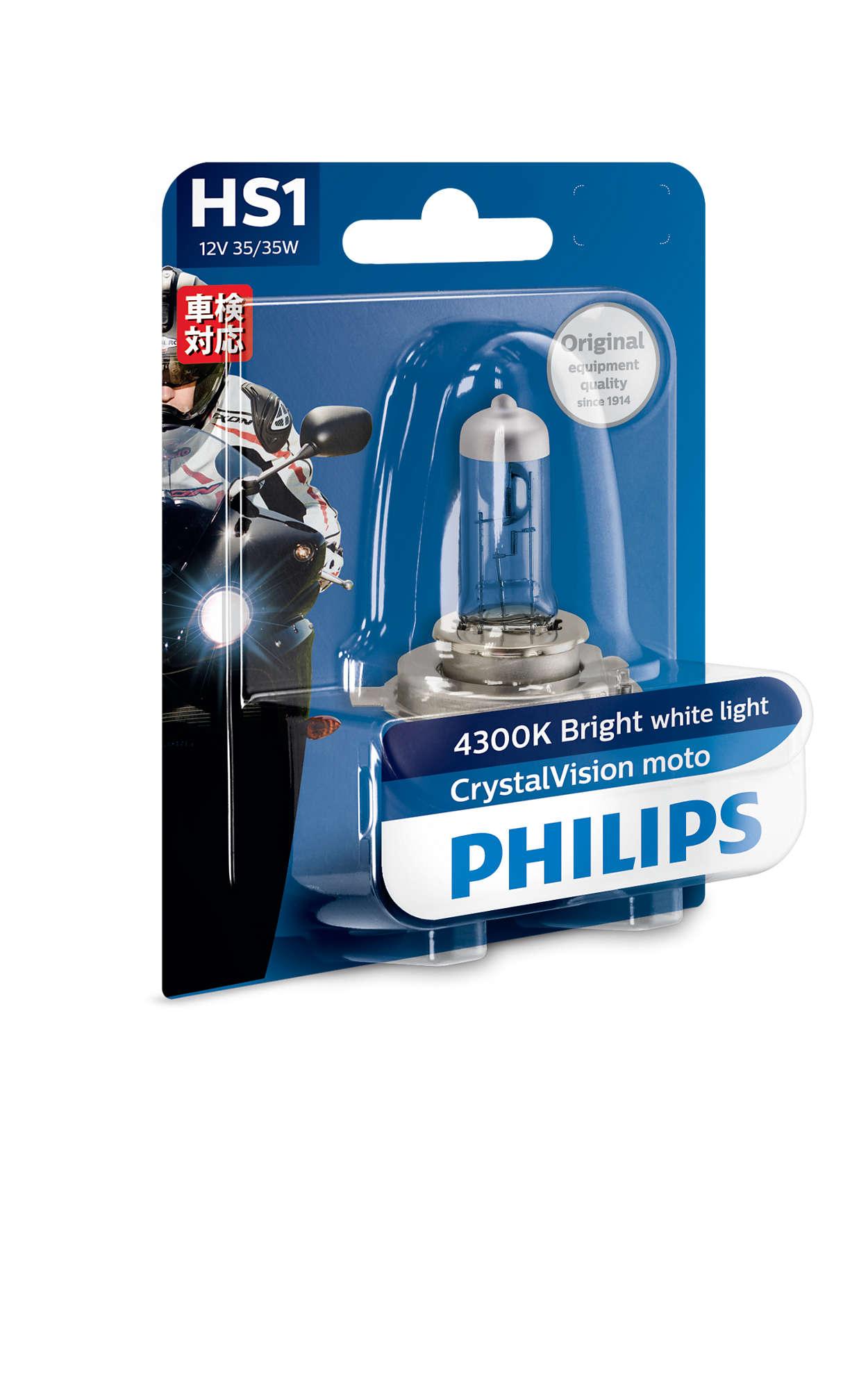 Crystalvision moto motorcycle headlights cvb philips