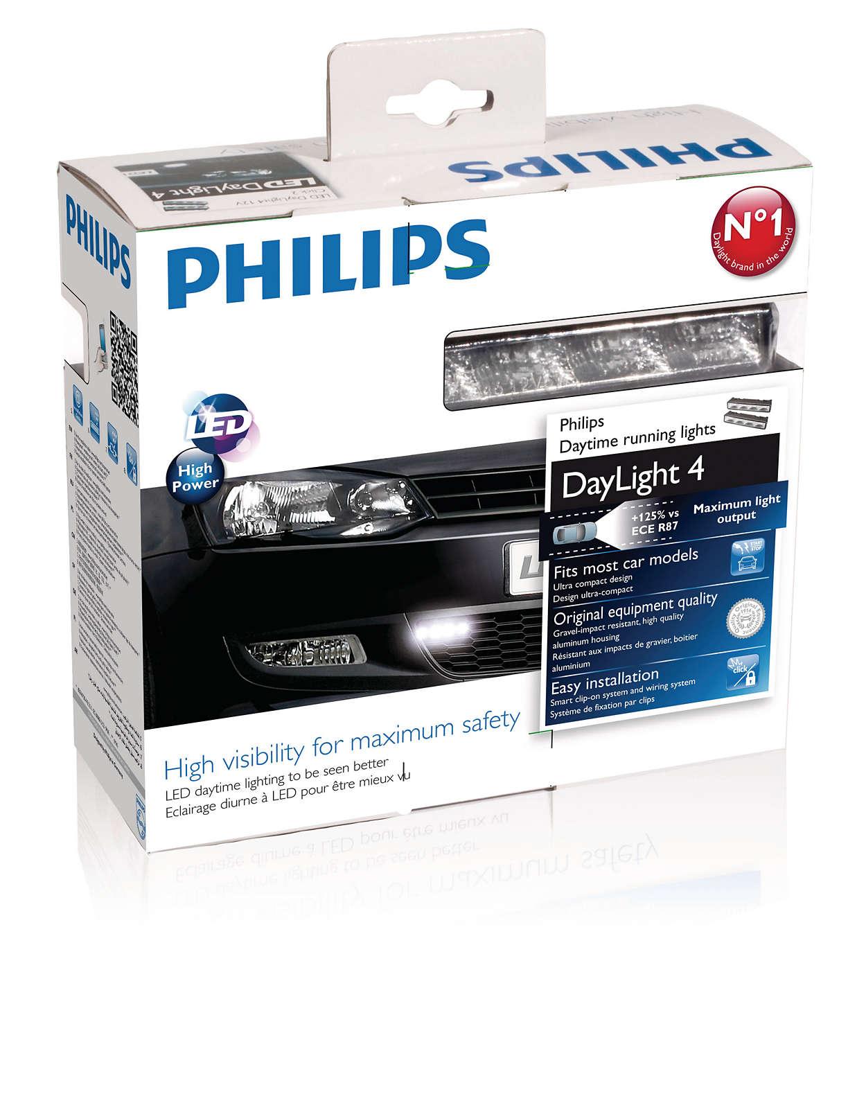 DayLight 4 LED Daytime running lights 12831ACCX1   Philips