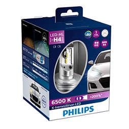 X-tremeUltinon LED لمبة المصابيح الأمامية في السيارة