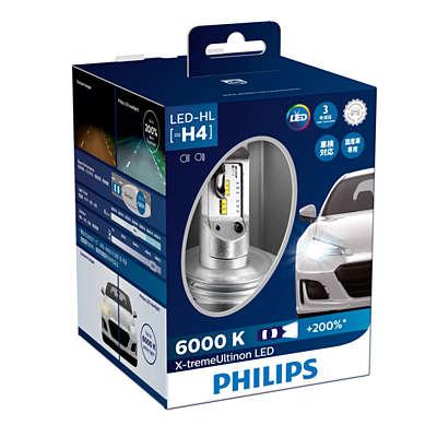 Led Headlight Bulb >> X-treme Ultinon LED car headlight bulb 12953BWX2 | Philips