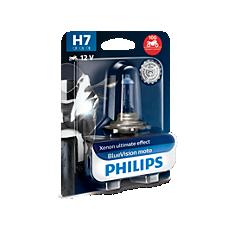 12972BVUBW BlueVision Moto Motorradscheinwerferlampen