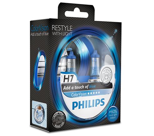 colorvision fahrzeuglampe f r blauen glanz im scheinwerfer 12972cvpbs2 philips. Black Bedroom Furniture Sets. Home Design Ideas