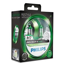 12972CVPGS2 -   ColorVision Green car headlight bulb