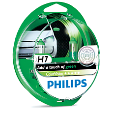 12972CVPGS2 ColorVision Green car headlight bulb