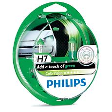12972CVPGS2 ColorVision Ampoule de phare avant vert pour voiture
