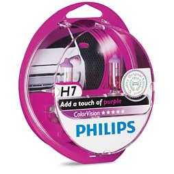 ColorVision Ampoule de phare avant violet pour voiture