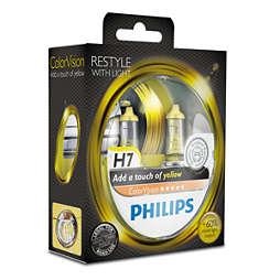 ColorVision Жълта крушка за преден фар на автомобил