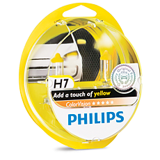 12972CVPYS2 ColorVision Yellow car headlight bulb