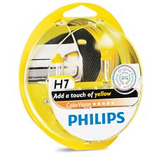 12972CVPYS2 ColorVision Ampoule de phare avant jaune pour voiture