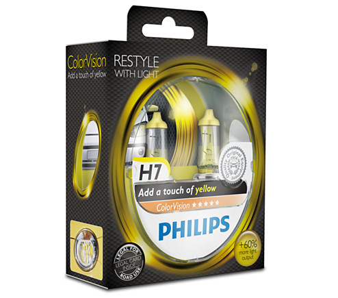 ColorVision Gele autolamp 12972CVPYS2 | Philips