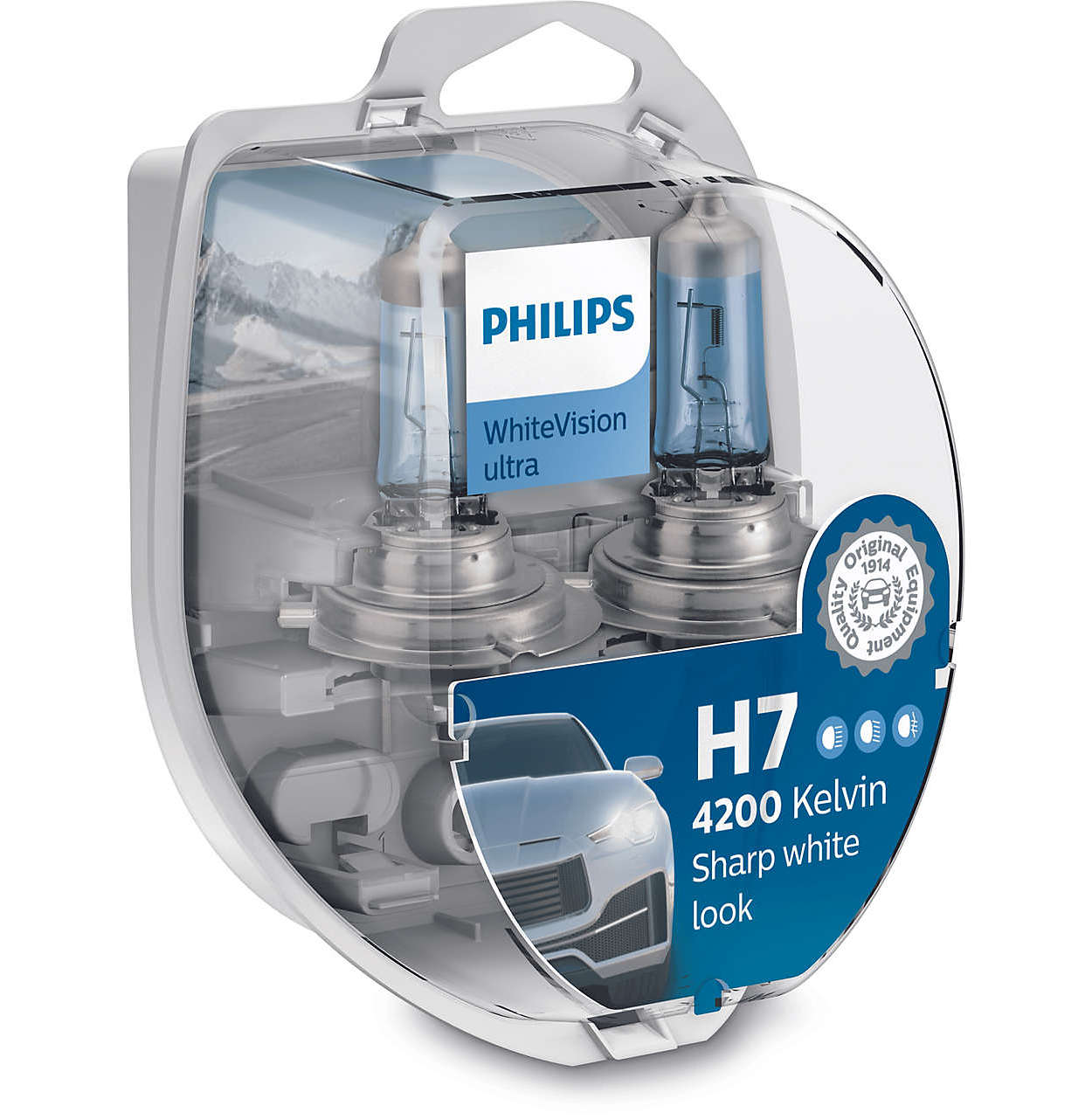 PhilipsH7 WhiteVision Ultra 12972WVUSM 2 Stk. 12V