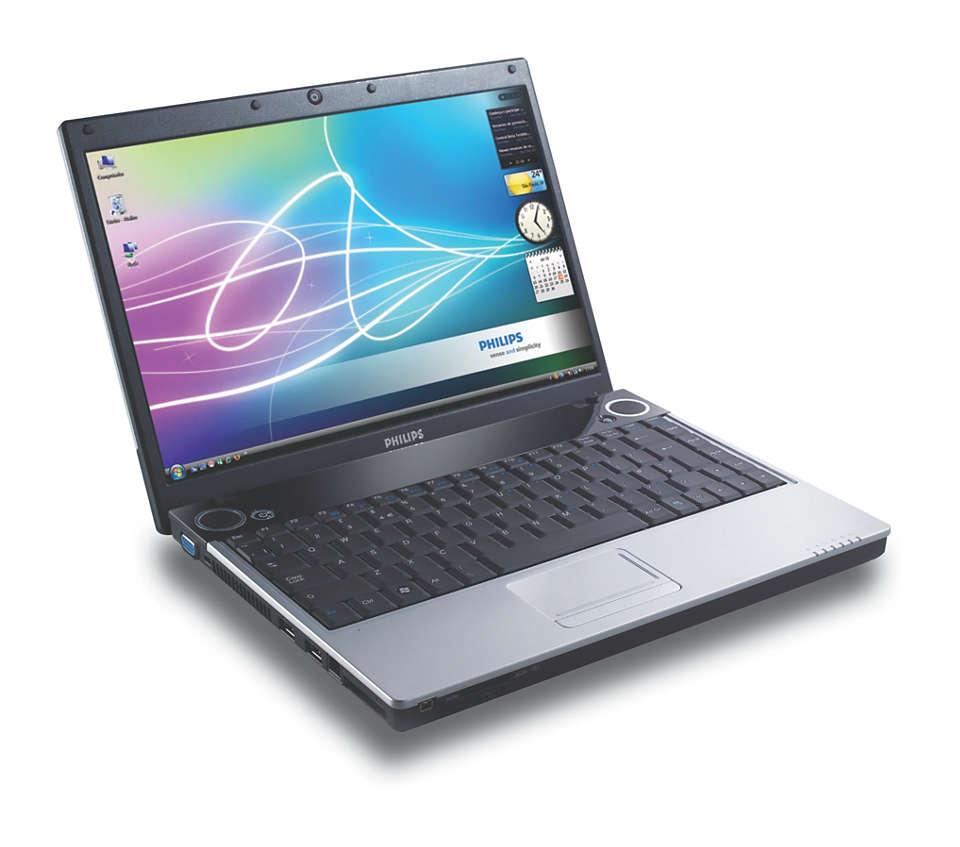 """Notebook multimídia de 34 cm (13,3"""")"""