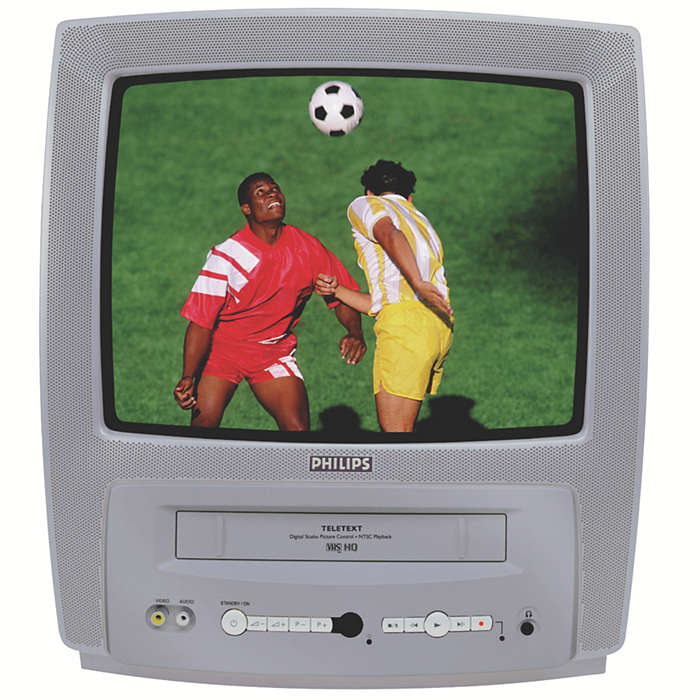 Kompakt kombinert TV/video med tekst-TV