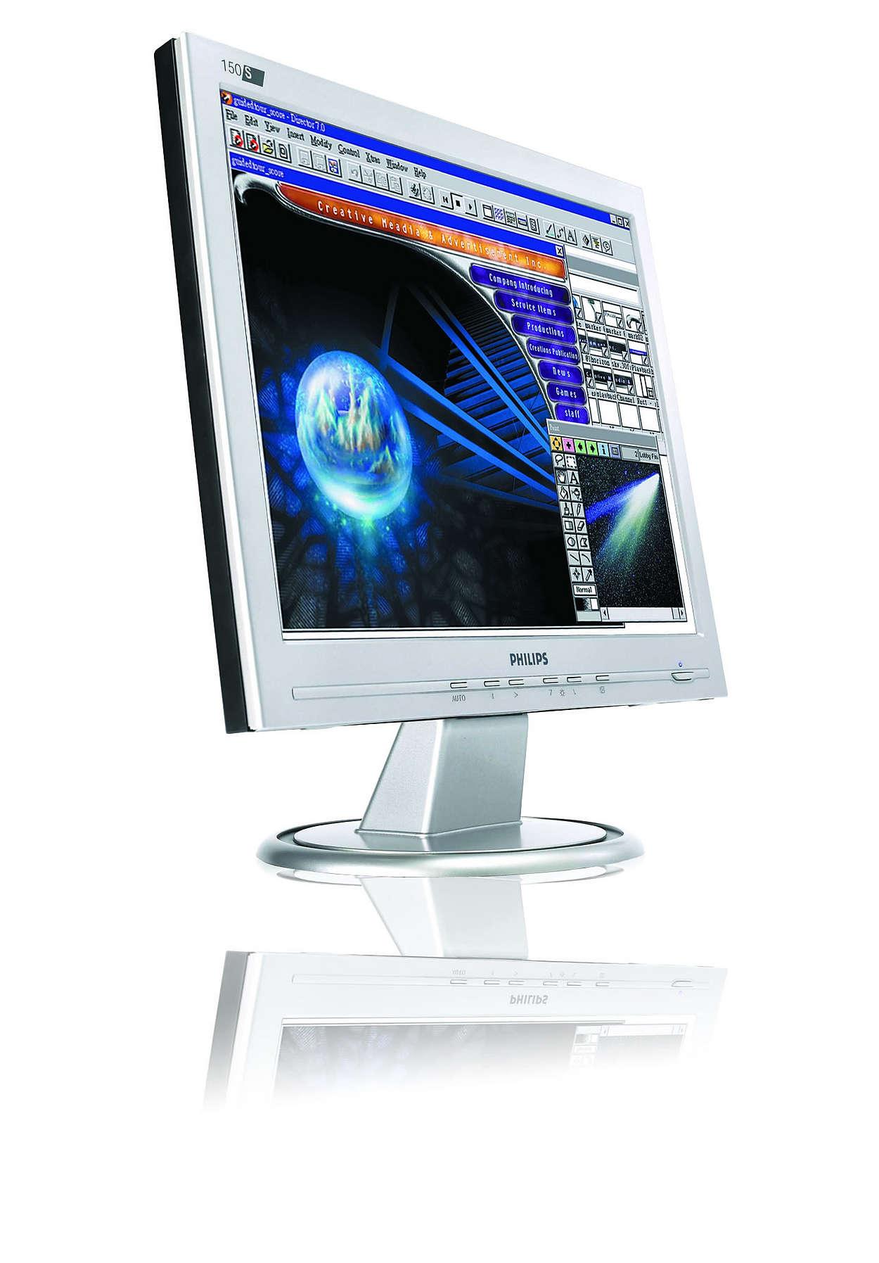 Erschwinglicher, platzsparender Monitor