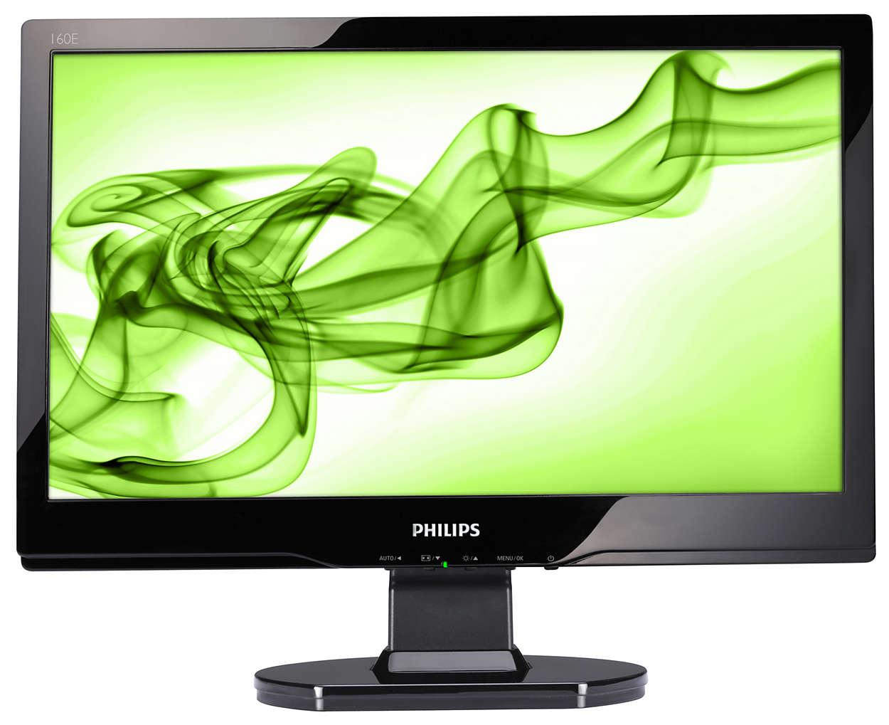HD 16:9 顯示器結合亮面設計