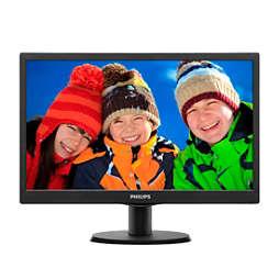 Monitor LCD dengan lampu latar LED