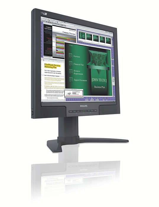 Extremely convenient display for business users