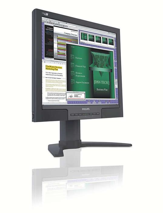 面向商務使用者的極易用型顯示器