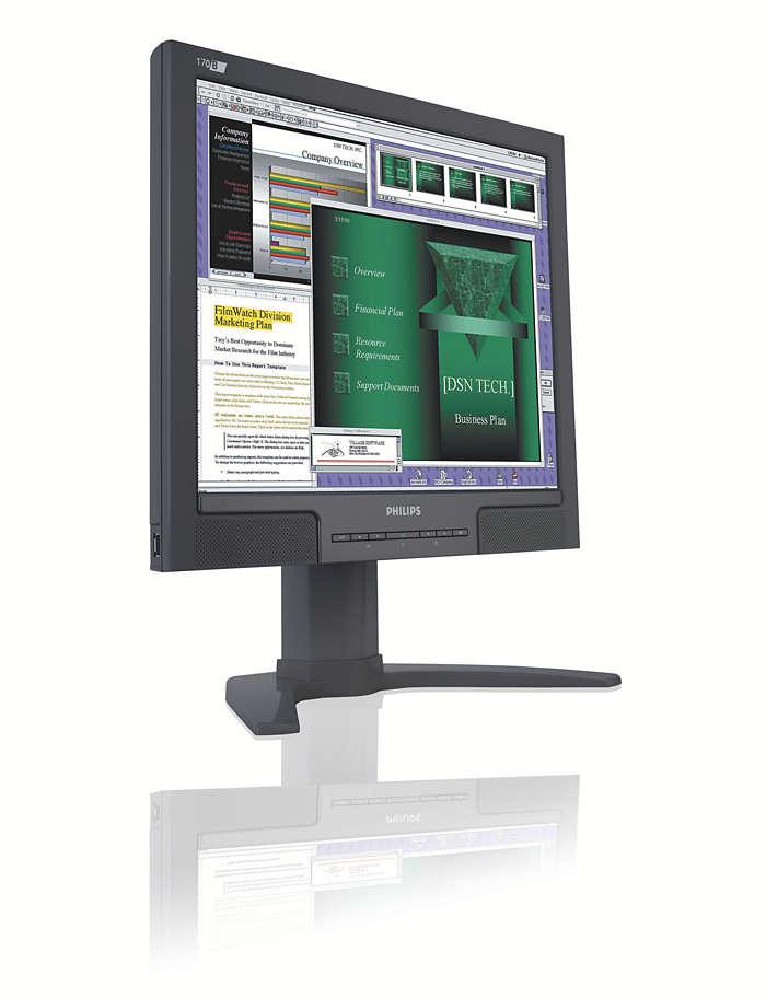 商務使用者極為便利的顯示器