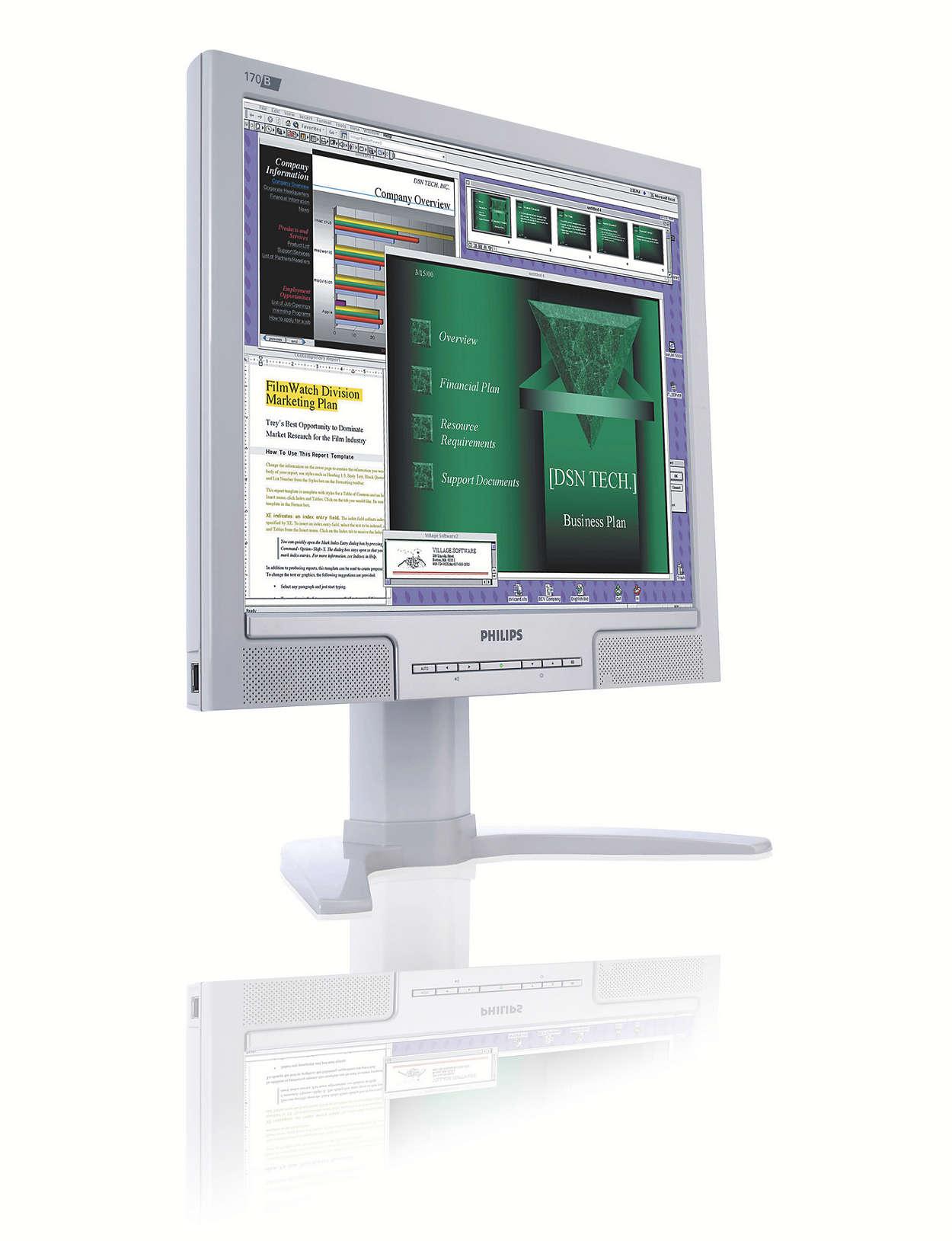 Monitor extremamente prático para utilizadores profissionais