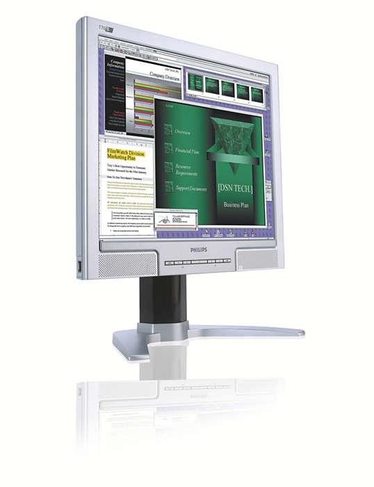 Extreem handig scherm voor zakelijke gebruikers