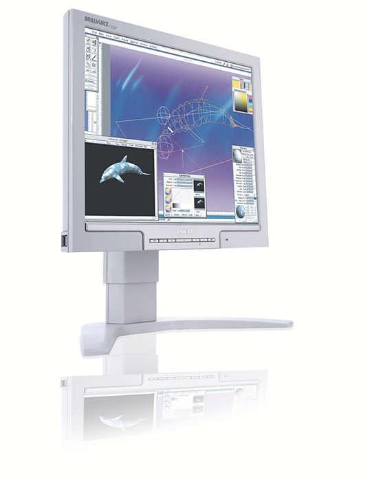 Egyedülálló képernyő profi igényekhez