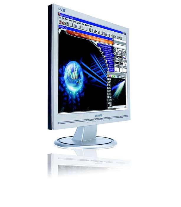 Erschwinglicher, platzsparender Monitor mit vielen Funktionen