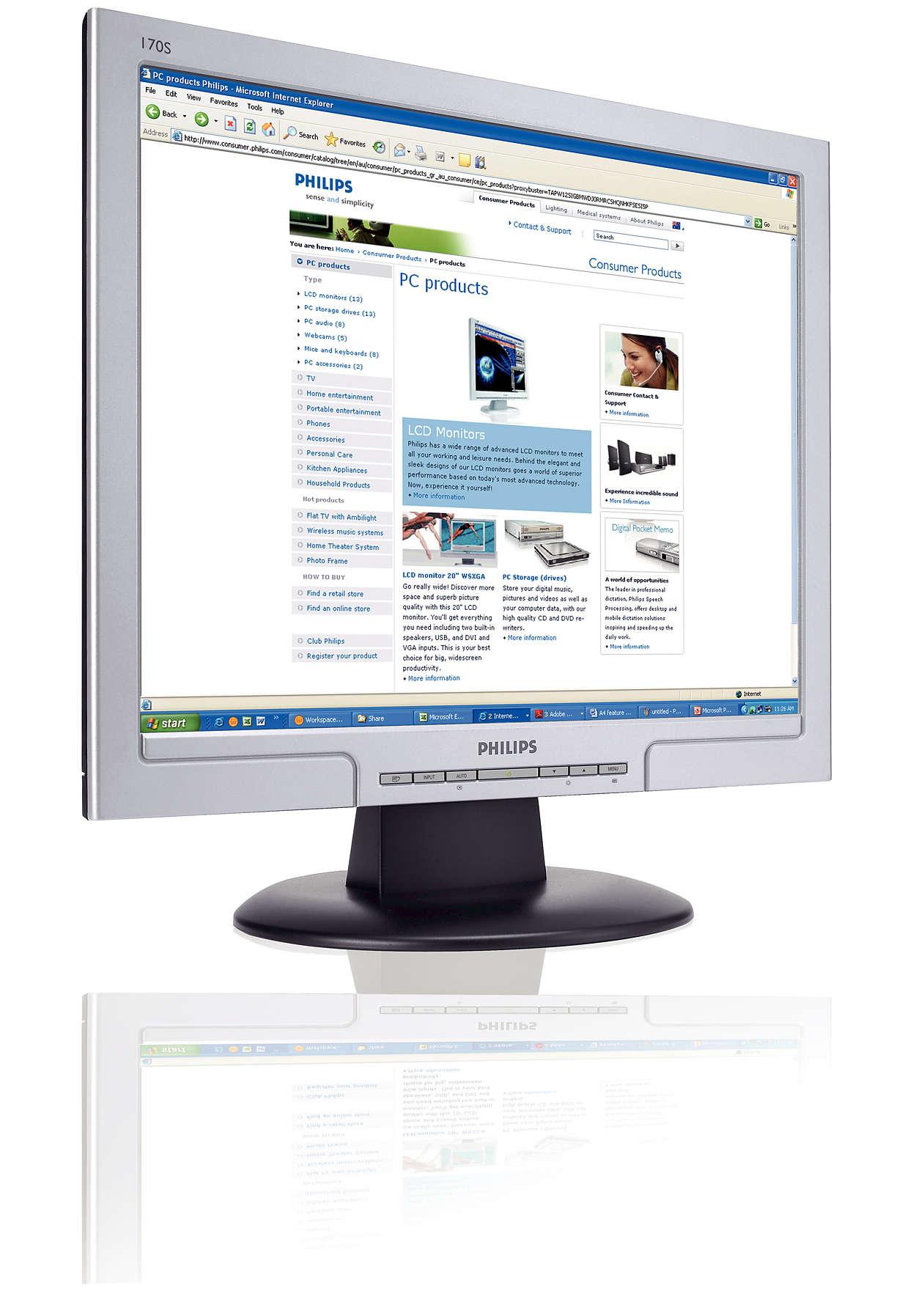 Kompakt skærm med stor ydeevne inden for dit budget