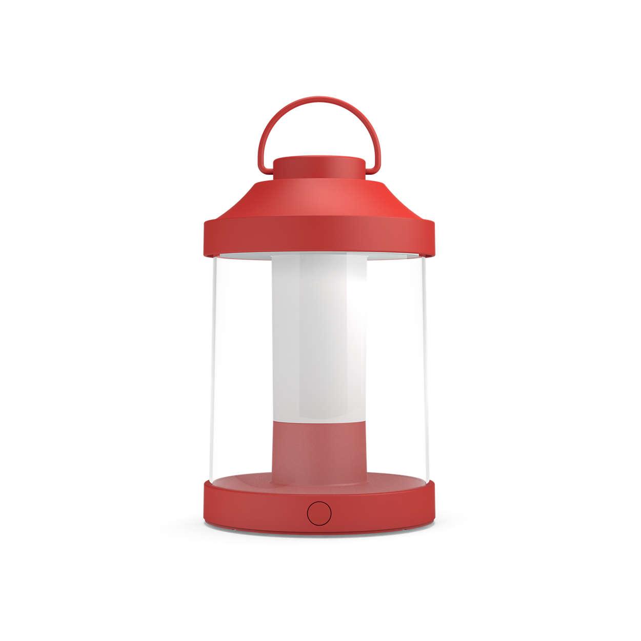 Njut av långa kvällar utomhus med en bärbar lampa