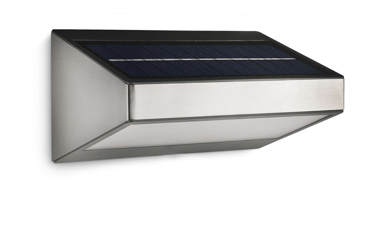 Aplique 178104716 philips for Aplique exterior solar led