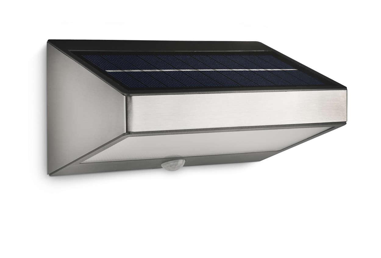 Convierte la luz solar en iluminación LED