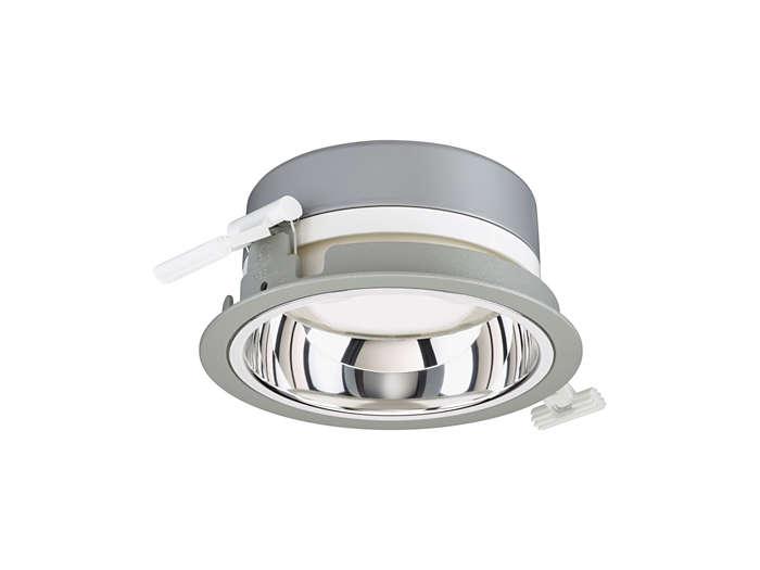LuxSpace Mini sıva alrtı DN560B downlight, yüksek parlaklıklı optik, gri versiyon