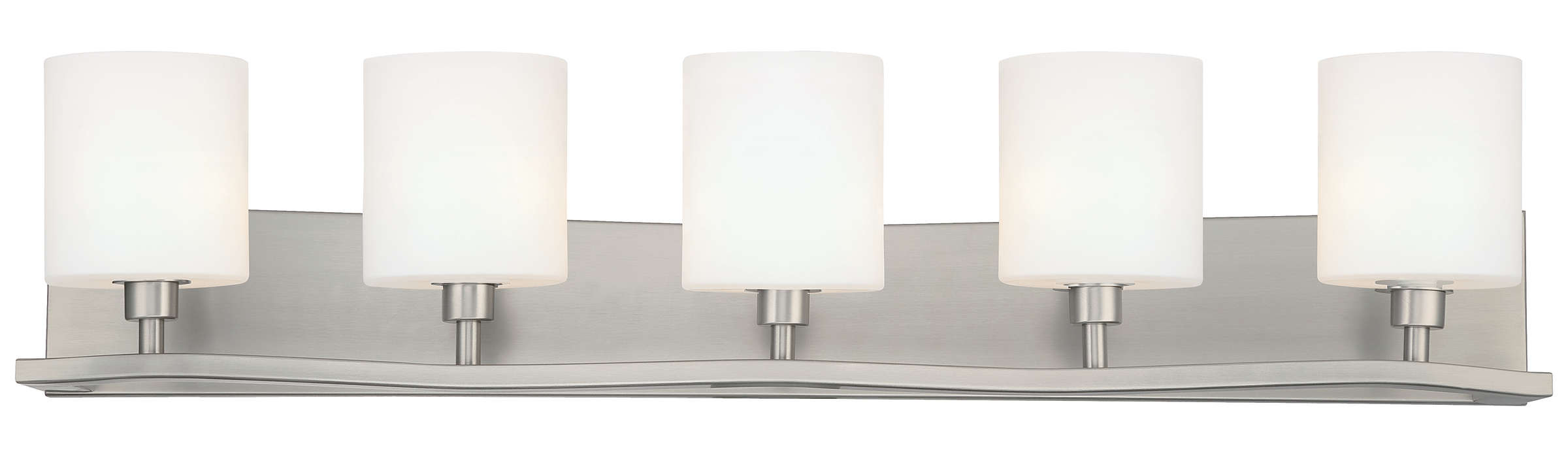 Cabaret 5-light Bath in Satin Nickel finish