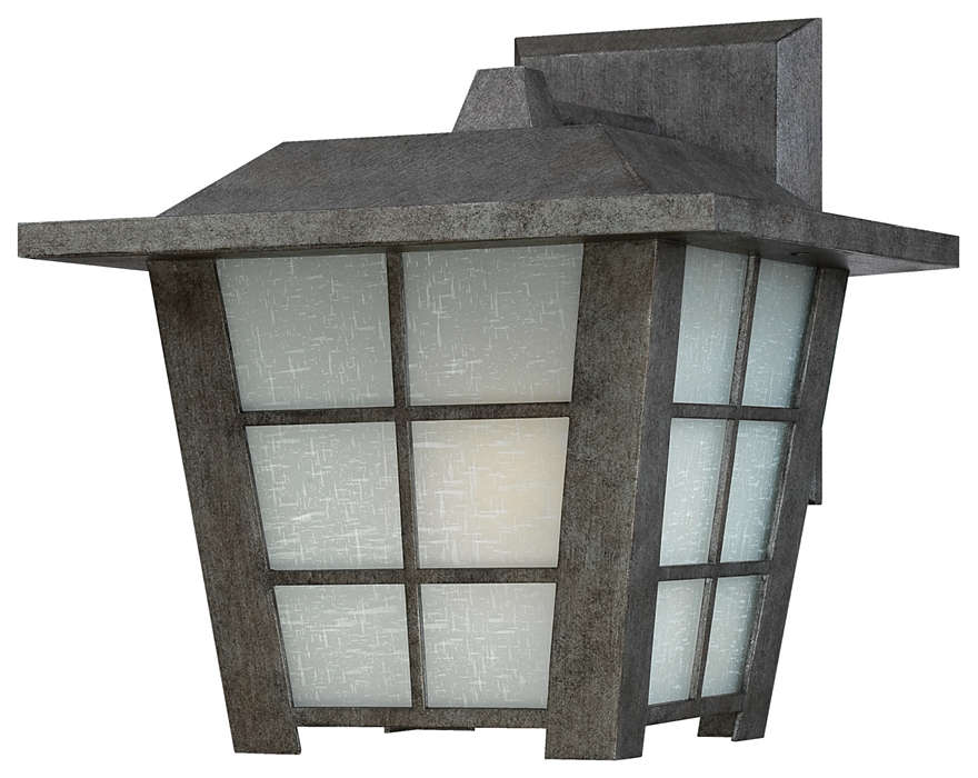 Shoji 1-light Outdoor Wall in Roma Silver finish