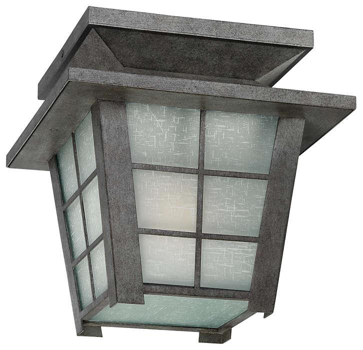 Shoji 1-light Outdoor Ceiling, Roma Silver finish