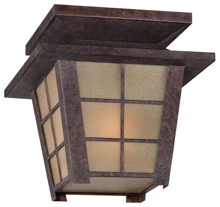 Shoji 1-light Outdoor Ceiling, Colonial Bronze