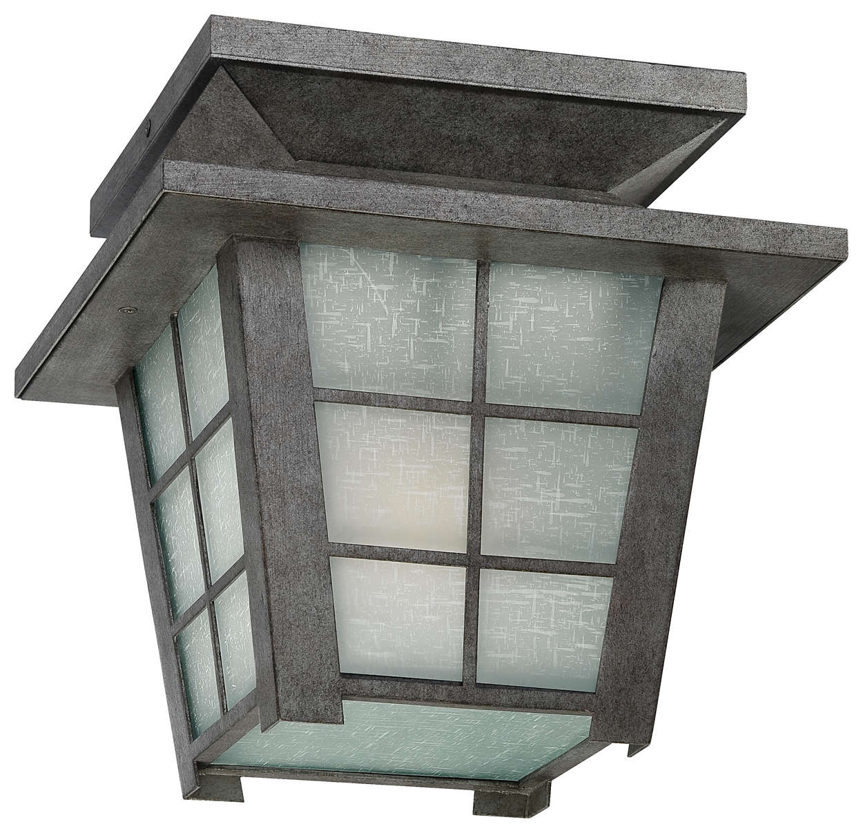 Shoji 1-light Outdoor Ceiling, Roma Silver finish