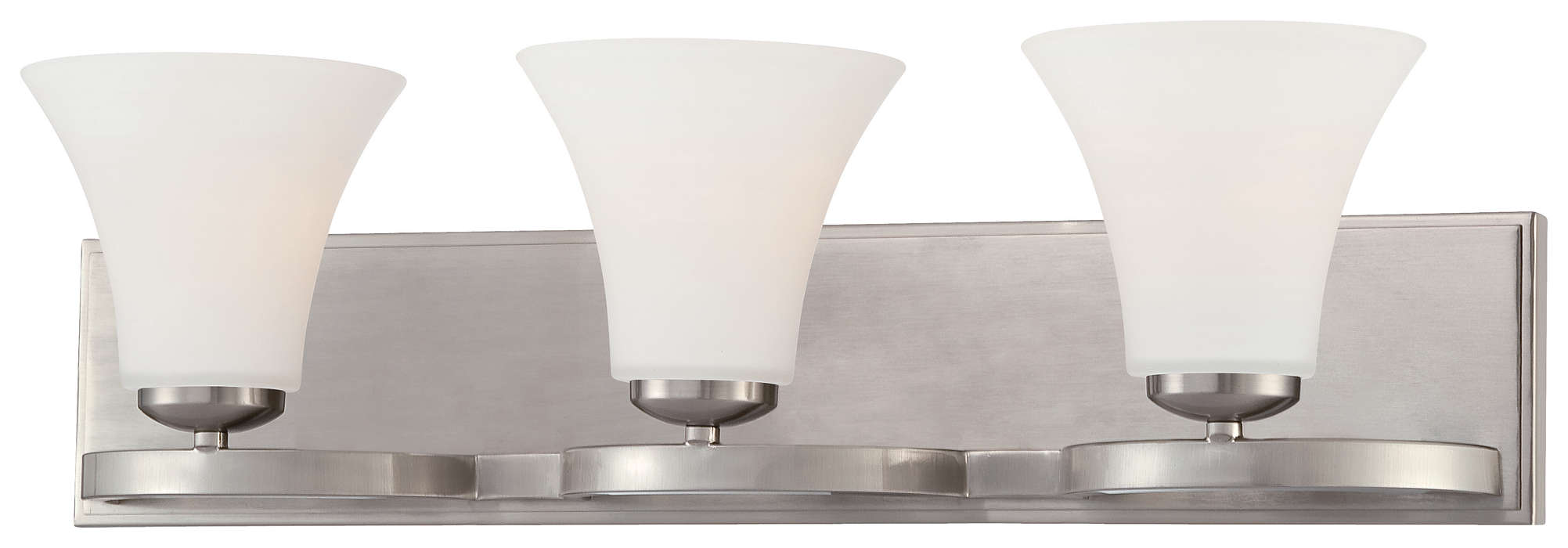 Bryce 3-light Bath in Satin Nickel finish