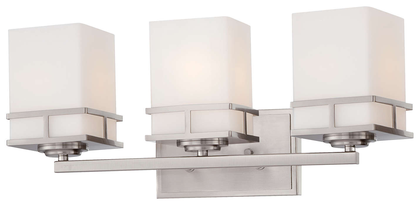 Morris 3-light Bath in Satin Nickel finish