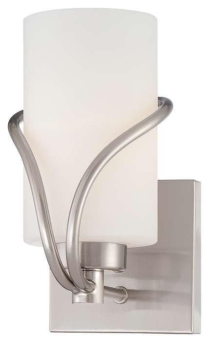 Karma 1-light Bath in Satin Nickel finish