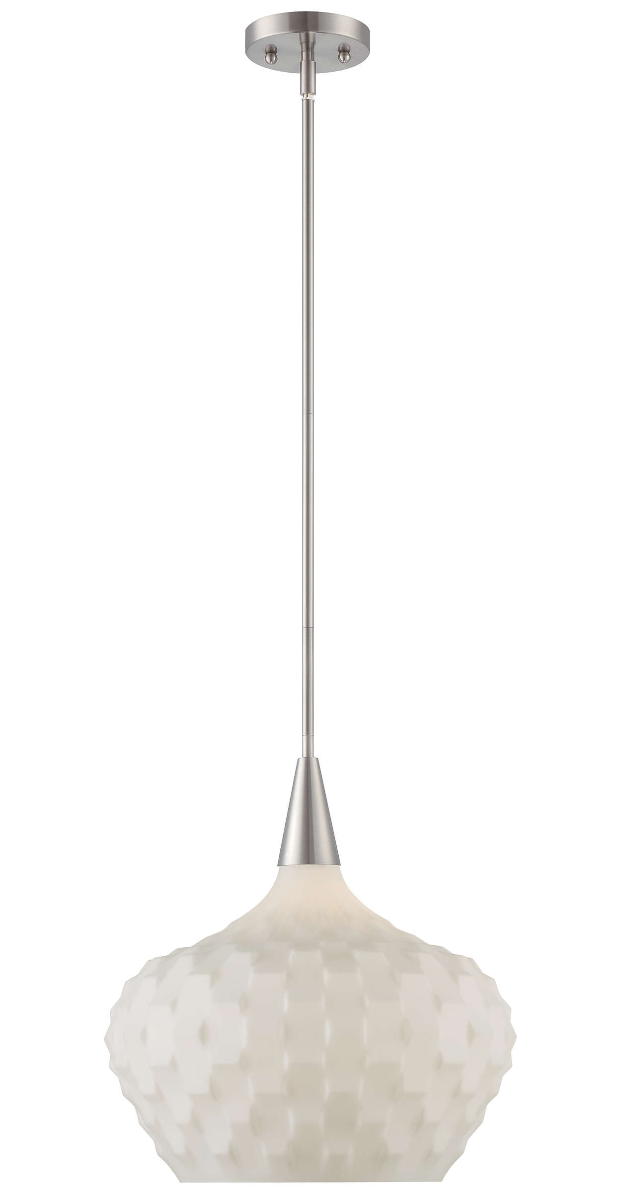 Ripple 1-light Pendant in Satin Nickel finish