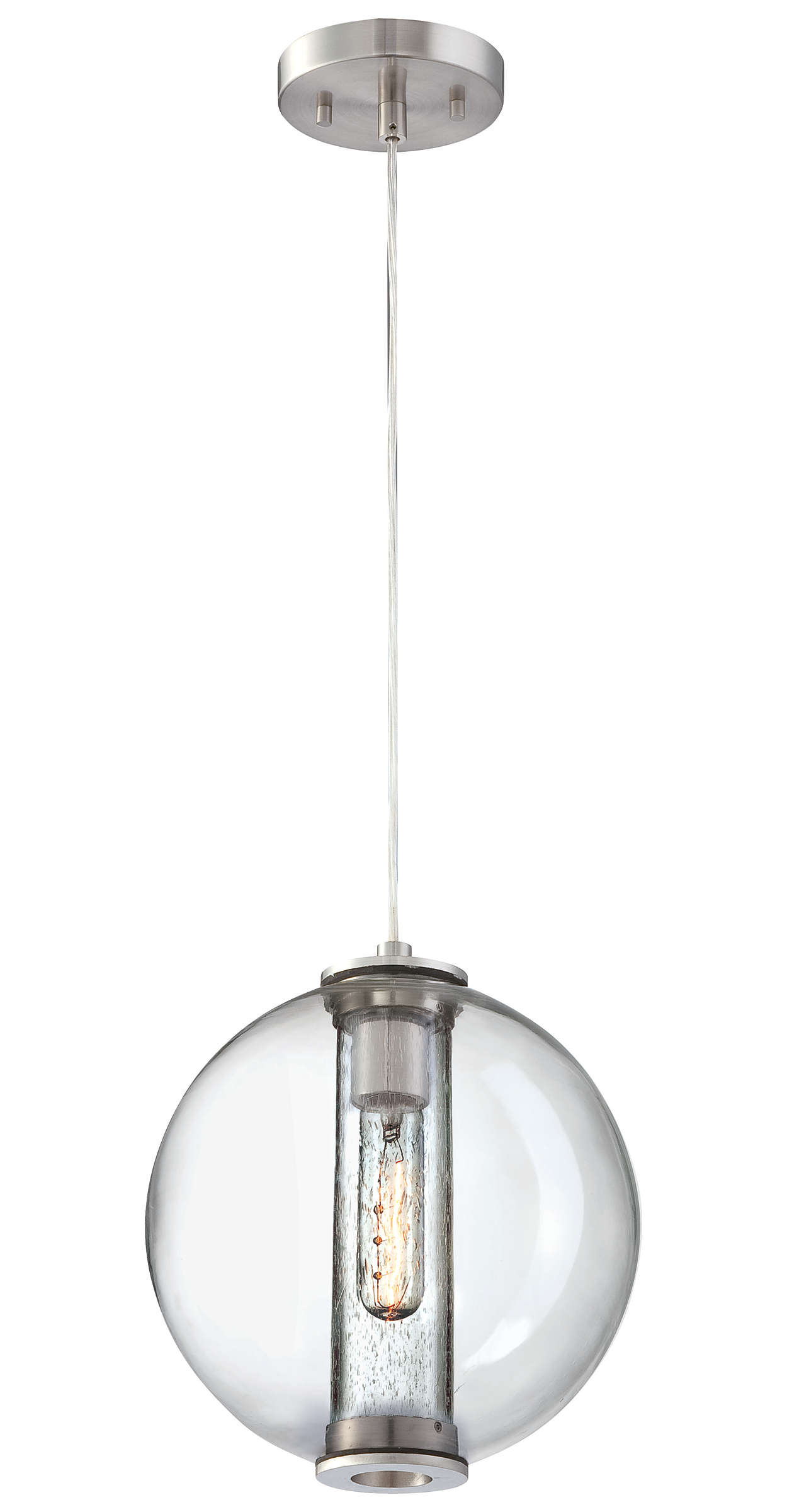Cosmos 1-light Pendant in Satin Nickel finish