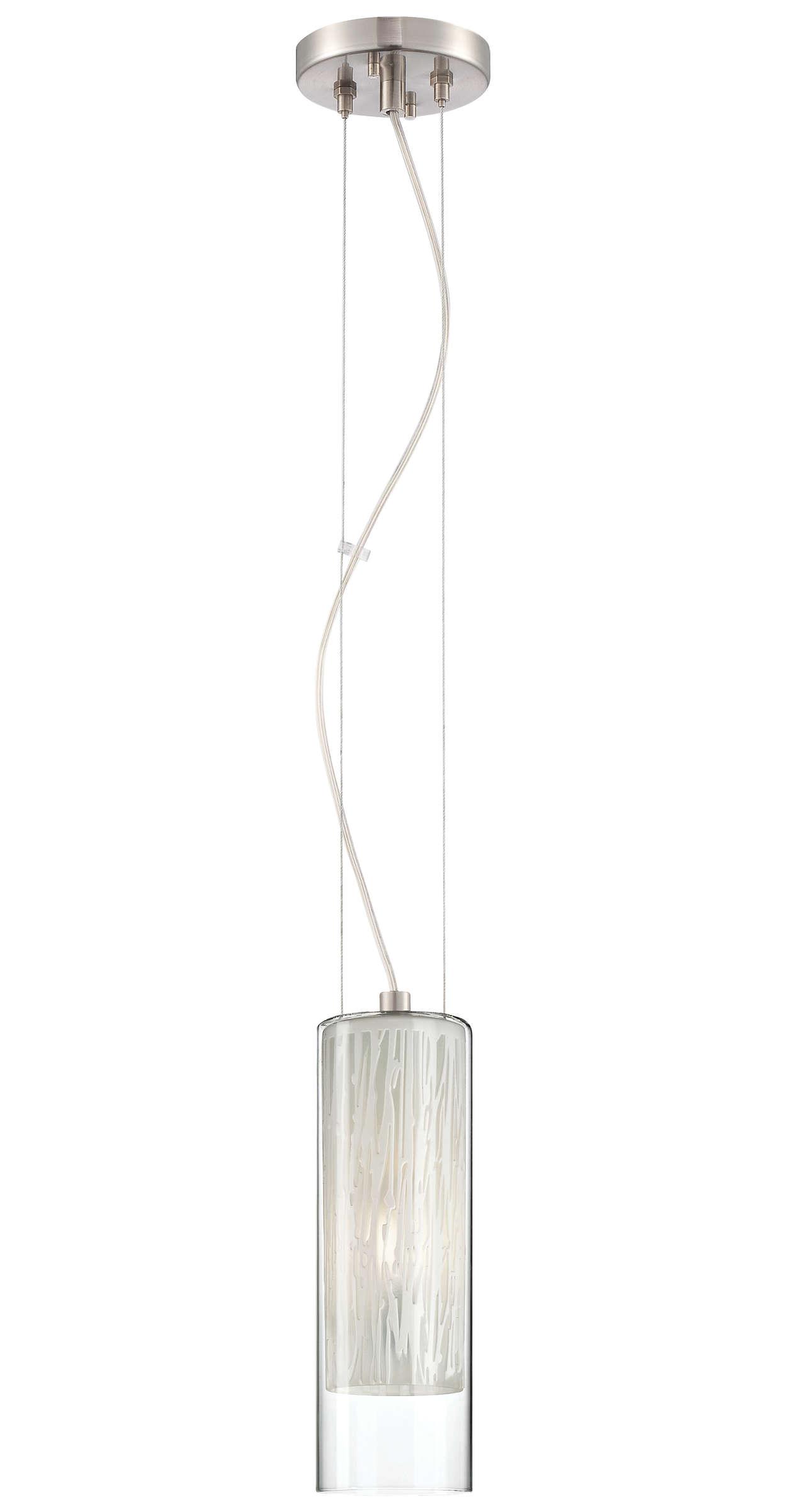 Element 1-light Pendant in Satin Nickel finish